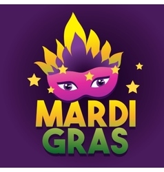 Mardi gras logo poster carnival type treatment vector