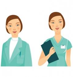 Medicine woman vector