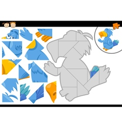 Preschool jigsaw puzzle game vector