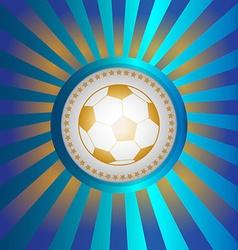 Soccer championship ball banner vector