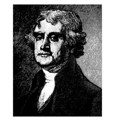 thomas jefferson vintage vector image
