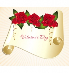 valentines day scroll vector image vector image