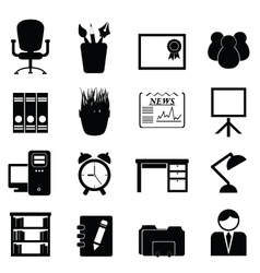 Workspace Office Icons vector image vector image