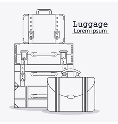 Bags of baggage and luggage concept vector