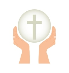 Crucifix christian or catholic icon image vector