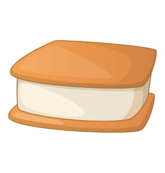 Waffle ice cream icon cartoon style vector