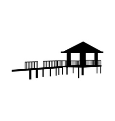 Icon bungalow vector