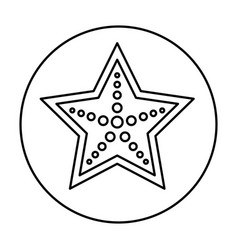 Star fish isolated icon vector