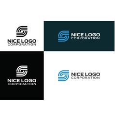 logo internet service provider vector image