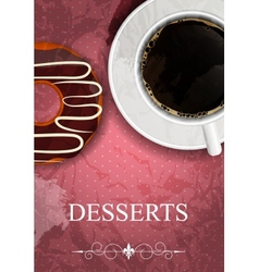 dessert menu in grunge vintage style vector image