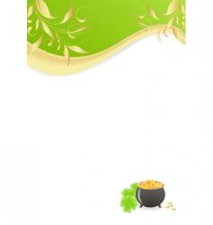 St Patrick's letter vector image