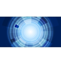 Blue gear abstract tech background vector