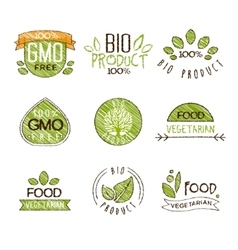 Natural organic labels set in vector
