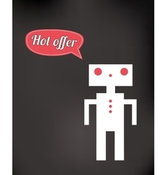 Friendly robot toy vector