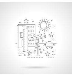 Astronomy lessons detail line icon vector