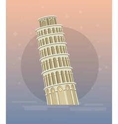 Leaning tower pisa italy europe vector