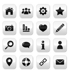 Website menu navigation buttons - home blog vector image