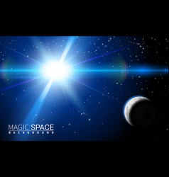 abstract space background with stars moon design vector image