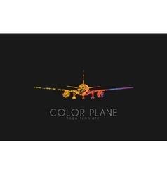 Airplane logo travel logo design Plane logo vector image vector image