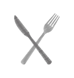 cutlery fork and knife icon image vector image vector image