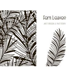 Fern leaves design art brush and pattern vector