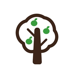 Fruit tree icon farm vector