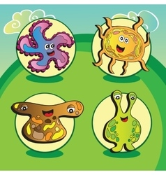 Funny characters - Set of four elements vector image