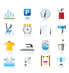 Hotel and travel icons vector image vector image