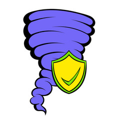 Hurricane insurance icon cartoon vector