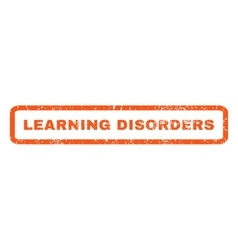 Learning disorders rubber stamp vector