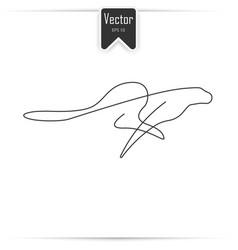 One line cheetah design silhouette vector