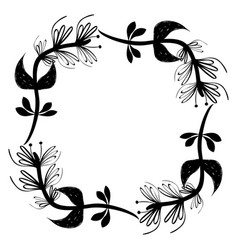 Rustic square branches plant design vector