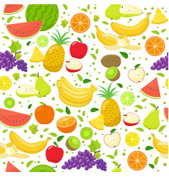seamless fruit pattern on a white background vector image vector image