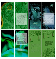 set of template for brochures vector image