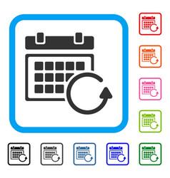 Update calendar framed icon vector