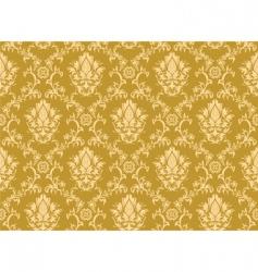 vintage damask pattern vector image vector image