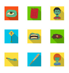 Zombie dead rotten and other web icon in flat vector
