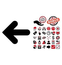 Arrow Left Flat Icon with Bonus vector image