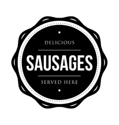 Sausages vintage stamp vector