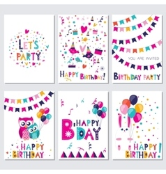 Happy birthday let s birtday party vector