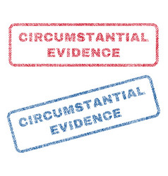 Circumstantial evidence textile stamps vector