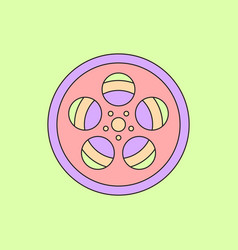 In flat style tape bobbin reel vector