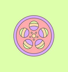 in flat style tape bobbin reel vector image