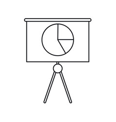 business presentation chart finance board outline vector image