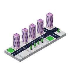 Isometric view vector image