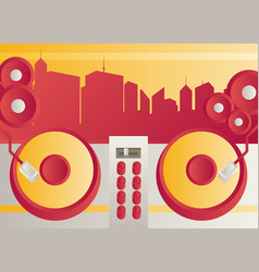 Designed modern dj music banner vector