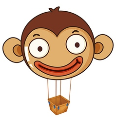 A monkey balloon with an empty basket vector image