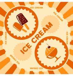 Ice cream label design vector image