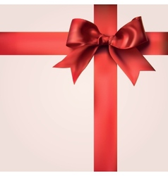 Red gift ribbons with bow vector