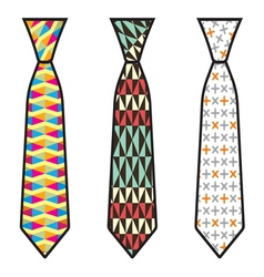 Kolekcija kravate1 resize vector image